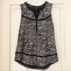 Lucky Brand | Floral Tank with Lace Trim
